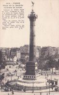 Cp , 75 , PARIS ,  Place De La Bastille , Colonne De Juillet - Piazze