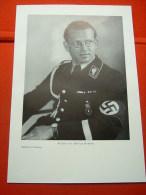 """Offizielles Portraitbild """"NSDAP Reichsleiter Philipp Bouhler"""" In Buchdruck!! Für A4-Bilderrahmen(26x18cm) Von Dt.Reich - Allemagne"""