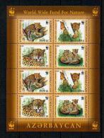 "WWF - Aserbaidschan - Mi.Nr. 592 / 595 - ""Leopard"" ** (2-er Kleinbogen / 2 Set Mini Sheet) - W.W.F."