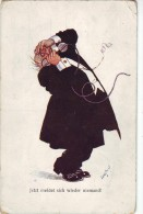 #1784 Austrian Comic Old Postcard Unused: Angry Old Man On The Phone - Bandes Dessinées