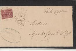 DC714-MARCHE 1901 Coperta Di Lettera Da COSSIGNANO-timbro Ottogonale COLLETTORIA Di COSSIGNANO+timbro VERDE R.POSTE SIND - Poststempel