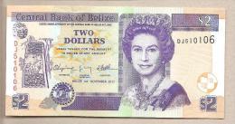 Belize - Banconota Non Circolata Da 2 Dollari - 2011 - Belize