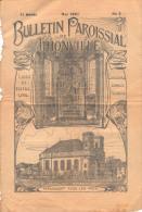 Bulletin Paroissial De Thionville, Moselle (57) - Lorraine - Mai 1927, N° 5 - Livres, BD, Revues