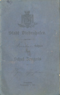 Carnet Scolaire En Allemand (Schul-Zeugnis) De Thionville Occupée/Diedenhofen (Moselle [57], Lorraine) - 1889-1905 - Diplômes & Bulletins Scolaires
