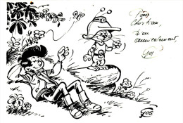 Carte Dédicacée De Gos : Khéna Et Le Scrameustache - Ca 1975 - Livres, BD, Revues