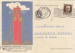 $3-2800- Varese Pubblicitaria Futurista Fonderia Bianchi - Prima Fabbrica Di Campane  -  F.g.  Vg.1935 - Pubblicitari