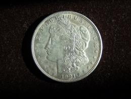 United States USA Etats-Unis 1 Dollar Morgan Silver Argent Plata 1921 Very Good Conditions. See Images - EDICIONES FEDERALES