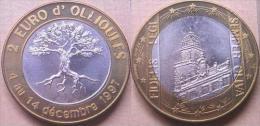 2 Euro Temporaire Precurseur De OLLIOULES 1997, RRRR, UNC, BI-Metall, Nr. 489, Only 2000 Ex.!!! - Euro Der Städte