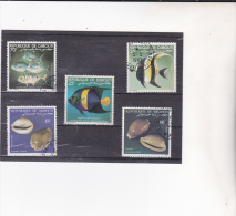 DJIBOUTI : Poissons Et Coquillages : Y&T : O : - Djibouti (1977-...)