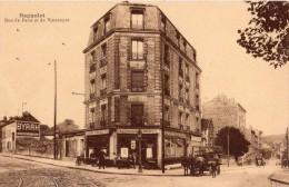 BAGNOLET RUE DE PARIS ET DE VINCENNES CAFE ANIMEE CALECHE PUBLICITE MURALE BYRRH - Bagnolet