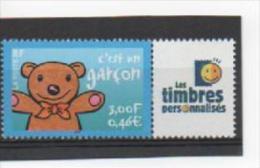 """France 2001 : 3431 XX Gommé . C'est Un Garçon. Logo """"Les Timbres Personnalisés"""". - Personalisiert"""