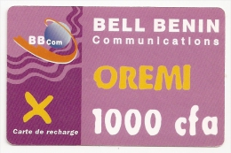 BENIN  RECHARGE  OREMI - Bénin
