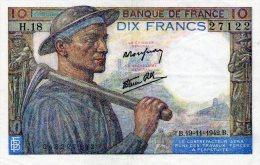 10 Fr Mineur 19/11/1942 - 10 F 1941-1949 ''Mineur''