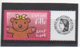 """France 2001 : 3432 XX Gommé . C´est Une Fille. Logo """"Cérès"""". - Frankreich"""