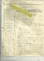 55 - Meuse - THIERVILLE - Facture SOMNARD-BONNET - Scierie – 1913 - France