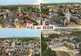 PIRE-SUR-SEICHE MULTIVUS AERIENNES VUE GENERALE L'EGLISE L'ECOLE DES MISSIONS - France