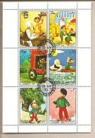 Sharjah - Foglietto FDC: Pinocchio - Verhalen, Fabels En Legenden
