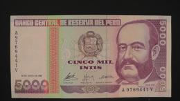 Peru - P 137 - 5000 Intis - 1988 - XF+  - Look Scan - Peru