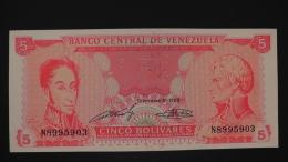 Venezuela - P 70a - 5 Bolivares - 1989 - Unc - Look Scan - Venezuela