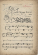 """Partition  -Supplément Musical N° 2890- L´Illustration - 16 Juillet 1898 - """" Le Chant Du 14 Juillet""""(1790) Hymne - Partitions Musicales Anciennes"""