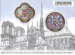 """La Feuille F4714 """"850 ème ANNIVERSAIRE DE NOTRE-DAME DE PARIS"""" LUXE. 169% D´augmentation En 1 An. Produit D´avenir. - Volledige Vellen"""