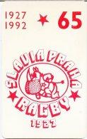 @+ Tchécoslovaquie - 65 U - Rugby Prague - SC5 - 30 500 Ex - 1992. - Tchécoslovaquie