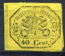 Italie           17  Sans Gomme    Petits Clairs  Un Trou D'épingle       états Pontificaux - Etats Pontificaux