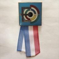 Badge / Pin (Shooting Weapons) - Yugoslavia Beograd (Belgrade) European Championship 1972 - Badges