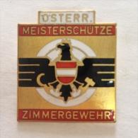 Badge / Pin (Shooting Weapons) - Austria Marksman Gun Room - Badges