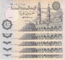 EGYPT 50 PT 1994 P-58b SIG/I.HASSAN #19 TST#2 LOT X10 UNC NOTES */* - Egypte