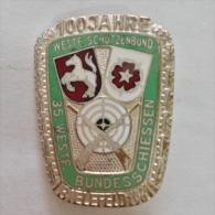 Badge / Pin (Shooting Weapons) - Germany (Deutschland) Bielefeld 1961 (100 Years) - Badges