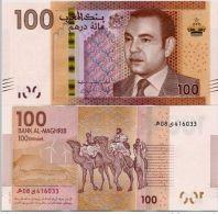 MOROCCO AL MAGHRIB 100 DIRHAMS 2012 2013 P-NEW UNC MOHAMED VI - Marocco