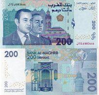 * MOROCCO 200 DIRHAMS 2012 2013 UNC P NEW - Marocco