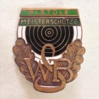 Badge / Pin (Shooting Weapons) - Germany (Deutschland) Pistol Marksman WSB - Badges