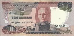 Angola 100 Escudos Marechal Carmona 1972  CX 66390 UNCIRCULATED - Angola