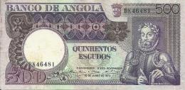 Angola 500 Escudos Luiz De Camoes 1973  (Please See Scan) - Angola