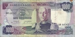 Angola 1000 Escudos Marechal Carmona 1972  (Please See Scan) - Angola