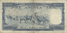 Angola 1000 Escudos Americo Tomas 1970 Palanca Negra (Please See Scan) - Angola