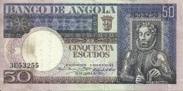 Angola 50 Escudos Luiz De Camoes 1973 (Please See Scan) - Angola