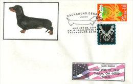Chien Teckel (Dachshund) Sacramento. Californie. USA.  , Enveloppe Souvenir California State Fair - Cani