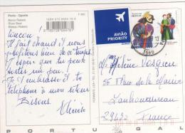 """Beau Timbre  """" Théatre """" / Carte , Postcard Du 20/10/08 Pour La France , 2 Scans - 1910-... República"""