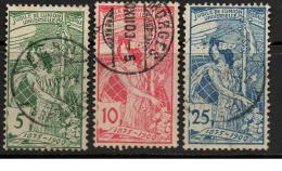 SVI016 - Svizzera 1900 UPU 3 Valori Usati - Oblitérés