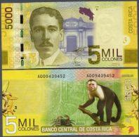 COSTA RICA 5000 COLONES 2009 PICK # 276 UNC. - Costa Rica