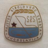 Badge / Pin (Fishing) - Yugoslavia Fishing Master SRS - Pin