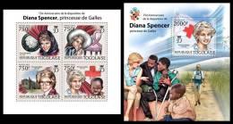 TOGO 2012 MNH** - Diana Spencer M/S + S/S. Official Issue - Koniklijke Families