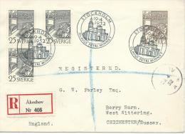 1952. REGISTERED LETTER STOCKHOLM-- CHICHESTER , ENGLAND - Covers & Documents