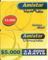 TARJETA PREPAGO MOBIL AMISTAR - Chile