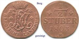 DL-1803, 3 Stüber, Berg - [ 1] …-1871 : German States