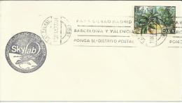 LAS PALMAS CANARIAS CARTA CON MARCA DE LA MISION ESPACIAL SKYLAB 1973 - Cartas