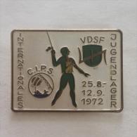 Badge / Pin (Fishing) - Germany (Deutschland) International Youth Camp 1972 CIPS VDSF - Badges